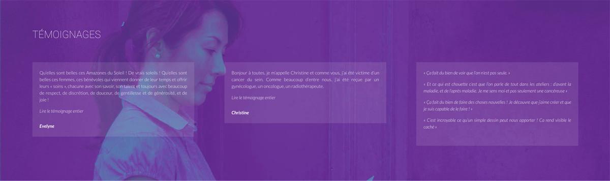 Les Amazones du Soleil, un site internet créé par Bastien Bérenguier, webmaster à Hyères Toulon et dans le Var