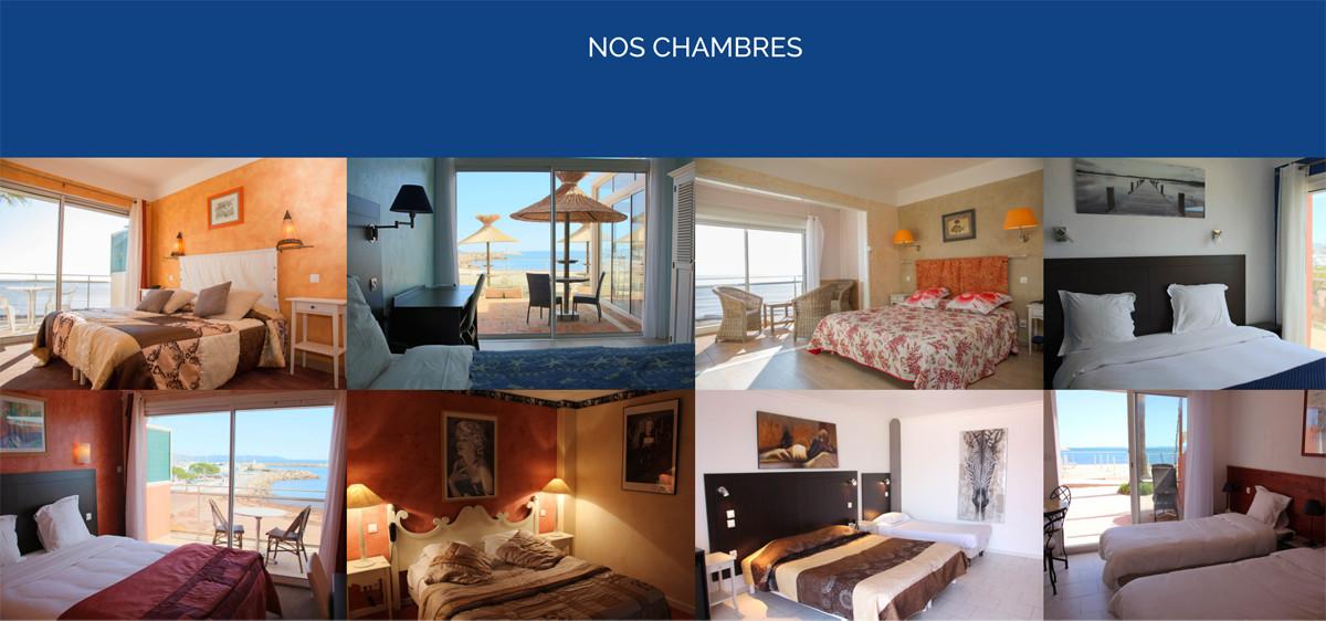 La Potinière, hôtel à Hyères, un site internet réalisé par Bastien Bérenguier